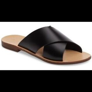 TOPSHOP | Black Hawaii Double Cross Sandal